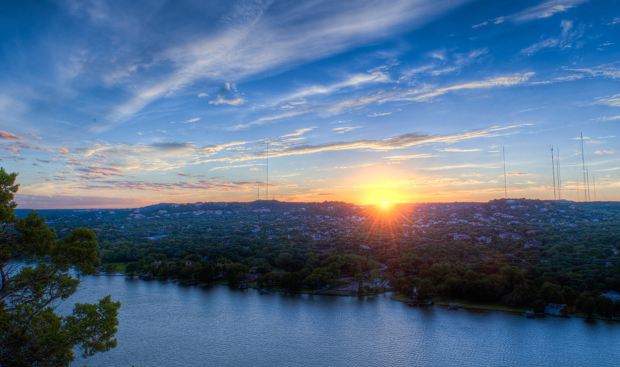Sunset on Mt. Bonnell